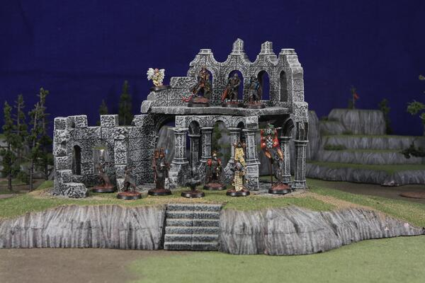 Wargaming with hand-made scenery