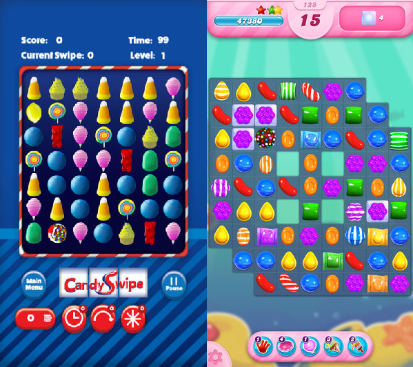 CandySwipe and Candy Crush Saga