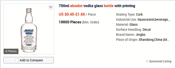 Wholesale Absolut vodka bottles - ready to buy online