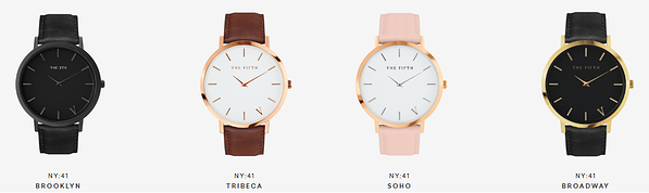 Watches from The 5TH's New York line