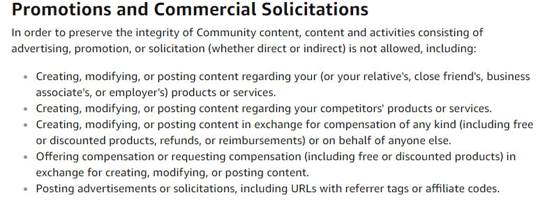 amazon community guidelines