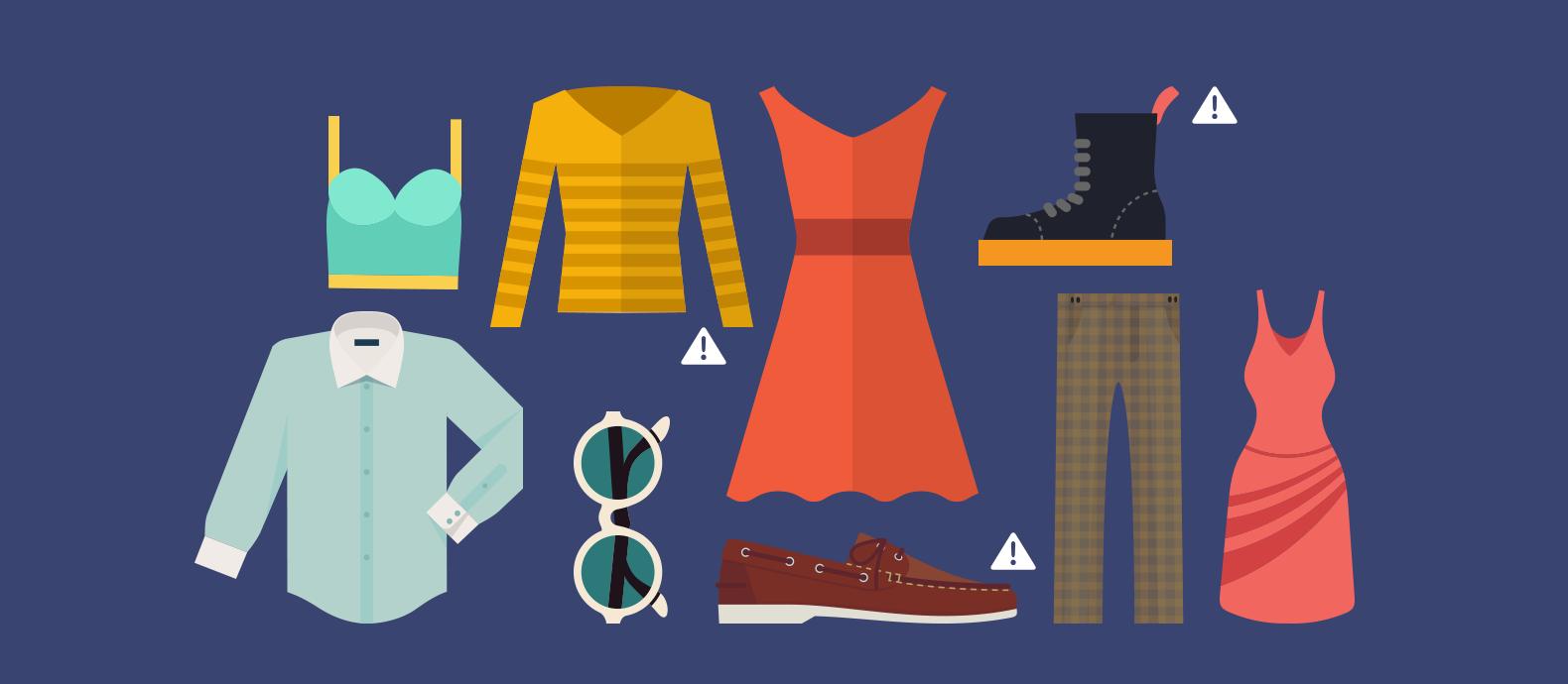 Fake designer clothes