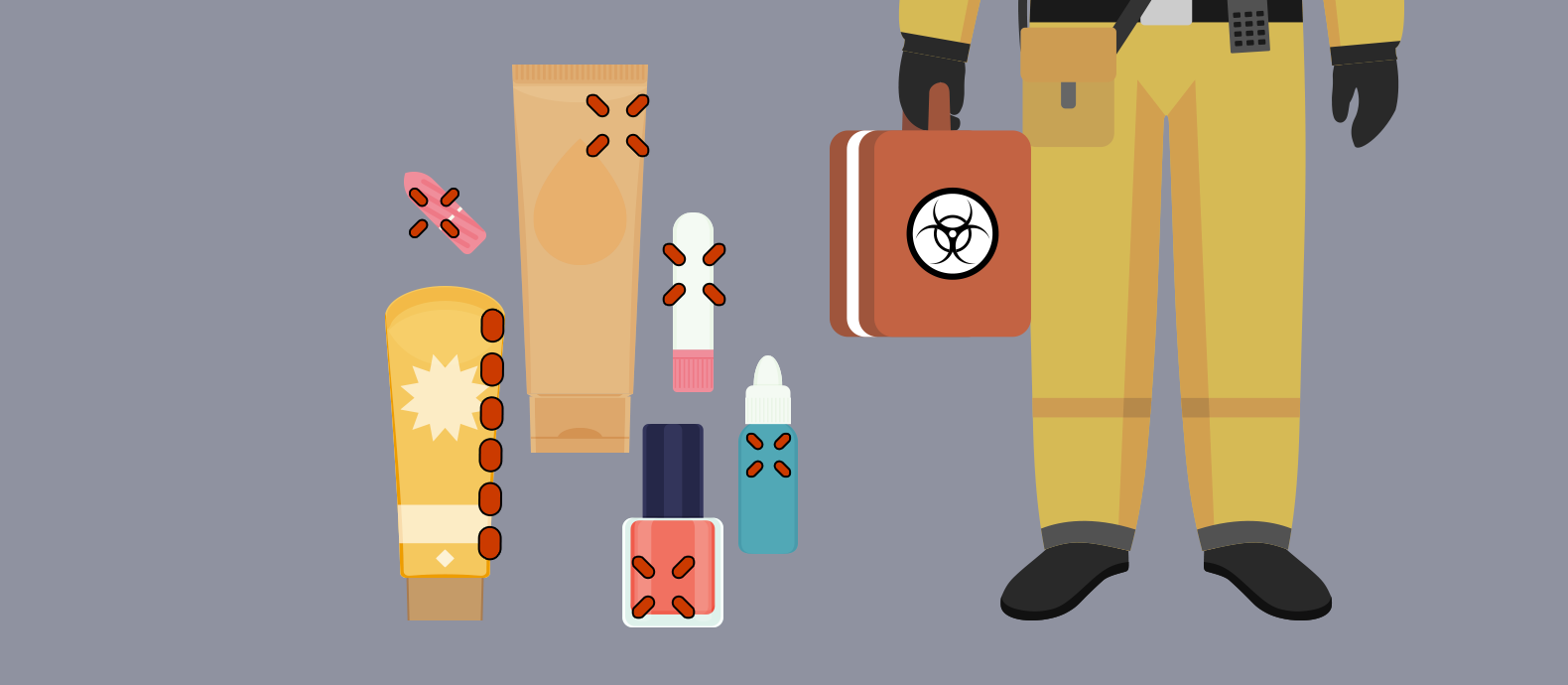 Counterfeit cosmetics contain many dangerous and toxic chemical ingredients