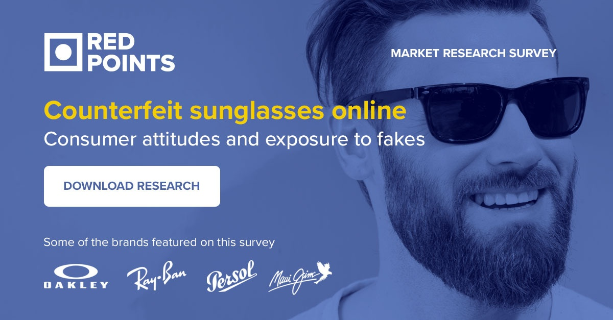 Brand Protection specialists Red Points' market research study on counterfeit sunglasses