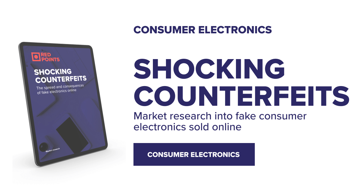 Shocking Counterfeits - Red Points market research into electronics counterfeiting online