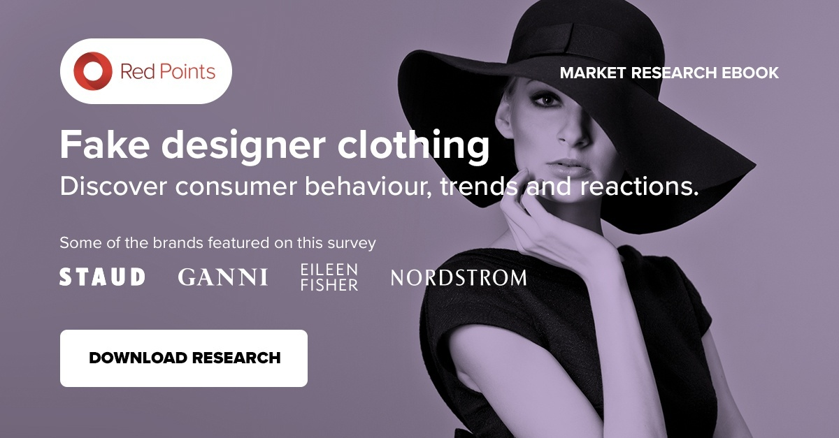Fake designer clothing market research by Red Points