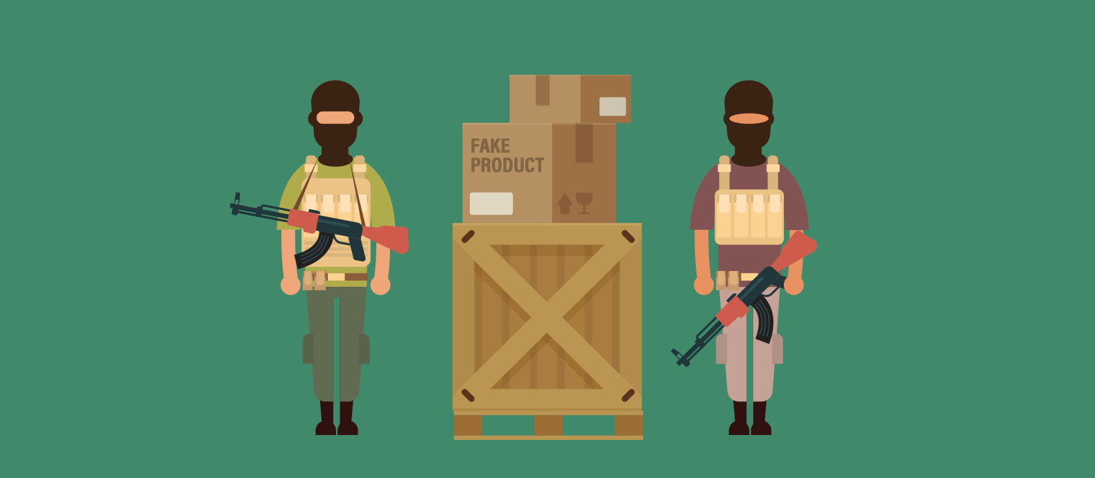 The links between counterfeiting, piracy and terrorism.